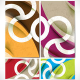 Vector set of colorful unique backgrounds Stock Images