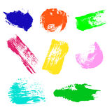 Vector set of colorful watercolor blots and brush strokes Stock Photography
