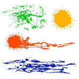 Vector set of colorful watercolor splash Stock Images