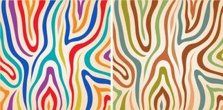 Vector set colorful zebra textures Stock Images