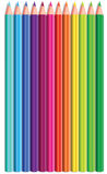 Vector set of coloured pencils Stock Photography