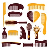 Vector set of combs on a white background Stock Photo
