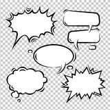 Vector set of comic bubbles empty Stock Image