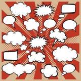 Vector set of comic speech bubbles in pop-art style. royalty free illustration