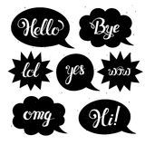 Vector set of comic speech bubbles in trendy flat style Royalty Free Stock Photo