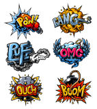 Vector set of comics icons Royalty Free Stock Image