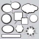 Vector set of comics style speech bubbles Stock Images
