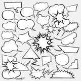 Vector Set of Comics Style Speech Bubbles Stock Photo