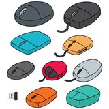 Vector set of computer mouse. Hand drawn cartoon, doodle illustration Stock Photo