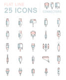 Vector Set Connectors For PC And Mobile Devices Stock Images