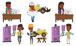Vector set of constructors and builders characters Royalty Free Stock Photo