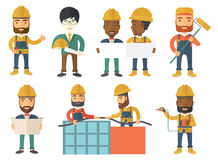 Vector set of constructors and builders characters Stock Photography