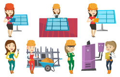 Vector set of constructors and builders characters Stock Photo
