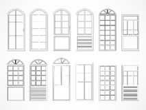 Vector set of contours doors. Royalty Free Stock Images