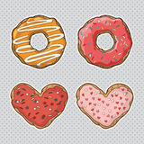 Vector set with cookies and donuts Stock Image
