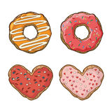 Vector set with cookies and donuts Stock Photography