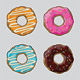 Vector set with cookies and donuts Royalty Free Stock Photography