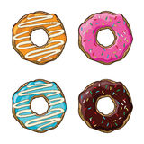Vector set with cookies and donuts Stock Images