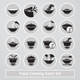 Vector set of cooking icons, for instructions Stock Image