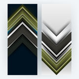 Vector set of corporate arrow background Stock Photography