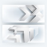 Vector set corporate chrome background Royalty Free Stock Image