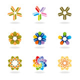 Corporate design element. Vector set of corporate design elements Stock Photos
