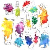Vector set of cosmetics bottles Stock Photography
