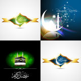Vector set of creative background of eid festival of muslim illu Stock Photo
