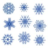Vector set creative snowflakes. Stock Images