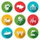 Vector Set of Crimea Icons.  Stock Image