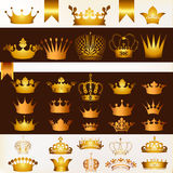 Vector set of crowns for your heraldic design Royalty Free Stock Photos