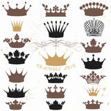 Vector set of crowns for your heraldic design Stock Images