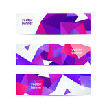 Vector set of crystal modern faceted geometric Stock Photo