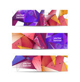 Vector set of crystal modern faceted geometric Stock Images
