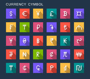 Vector Set Currency Symbols Royalty Free Stock Photography
