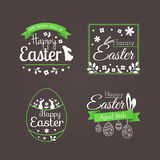 """Vector set of cute badges and labels with title """"Happy Easter"""". Vector set of cute badges and labels with title """"Happy Easter"""". Decoration Stock Image"""