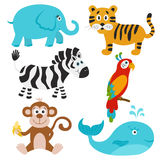 Vector  set of cute cartoon animals. Royalty Free Stock Image