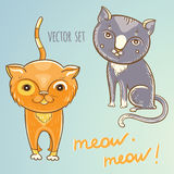Vector set with cute cats Stock Photo