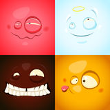 Vector set with cute  Royalty Free Stock Photography