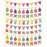 Vector Set of Cute Easter and Spring Themed Bunting Stock Photos