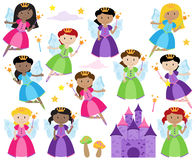 Vector Set of Cute Fairies Stock Photo