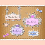 Vector set of cute frames. Stock Photo