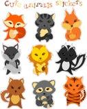 Vector set of cute funny cartoon animals Royalty Free Stock Photos