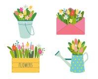 Vector set of cute gardening tools vector illustration