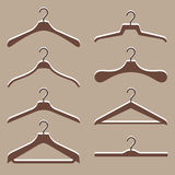 Vector set of cute hanger clothes Stock Photo