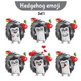 Vector set of cute hedgehog characters. Set 1 Stock Images