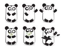 Vector set of cute pandas Stock Image