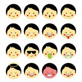 Vector set of cute smile-balls. vector , isolated, emoticon. Royalty Free Stock Photography