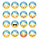 Vector set of cute smile-balls. vector , isolated, emoticon. Royalty Free Stock Photo
