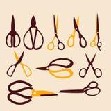 Vector set of cutting scissors Stock Photo